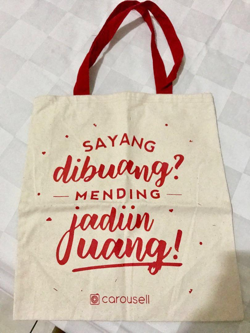 NEW Carousell Canvas Tote Bag