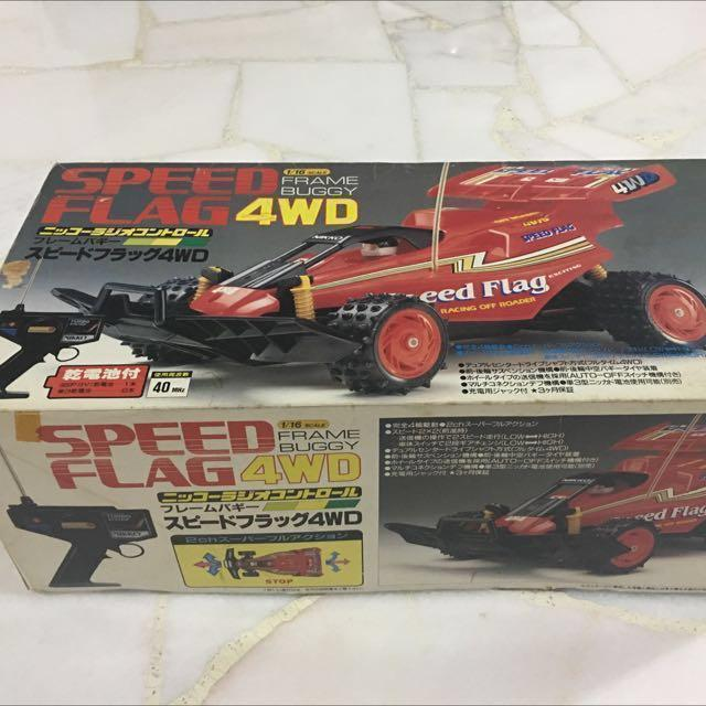 Nikko Speed Flag 4wd Frame Buggy 1 16 Remote Control Car Battery