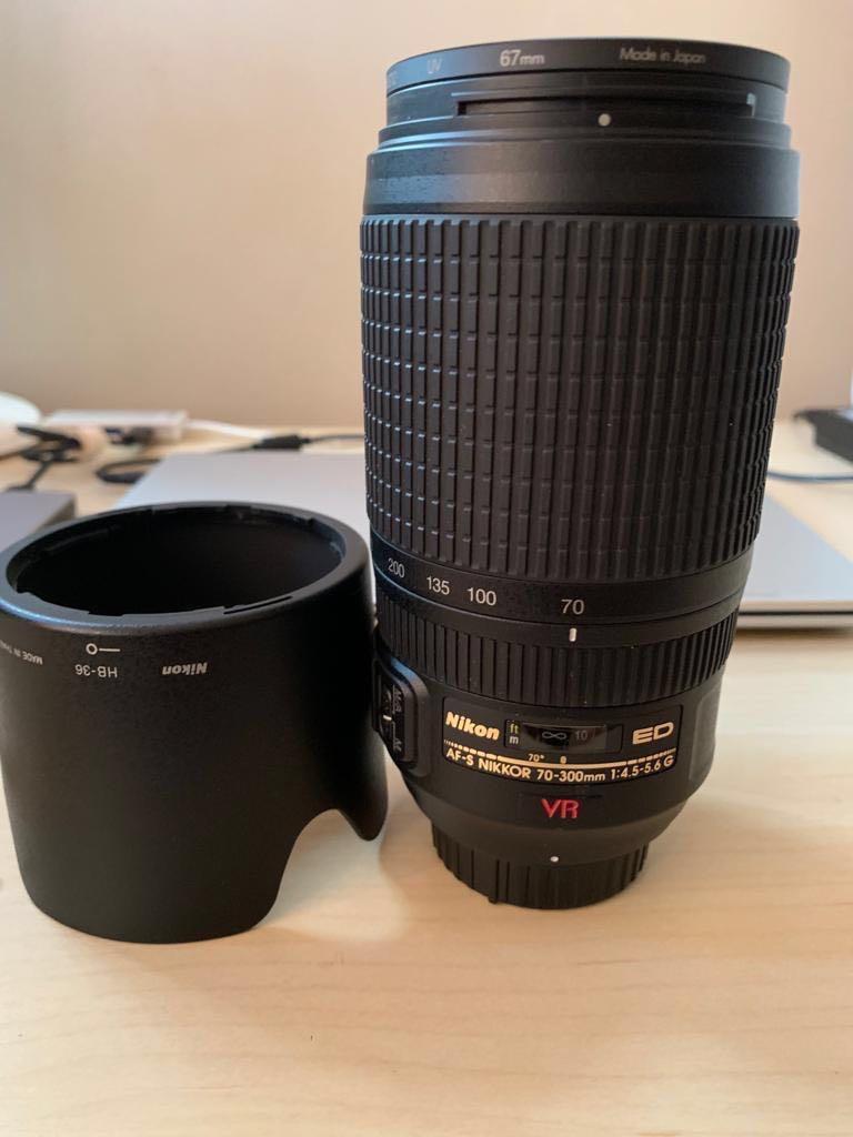 Nikon AF-S 70-300mm ED VR lens