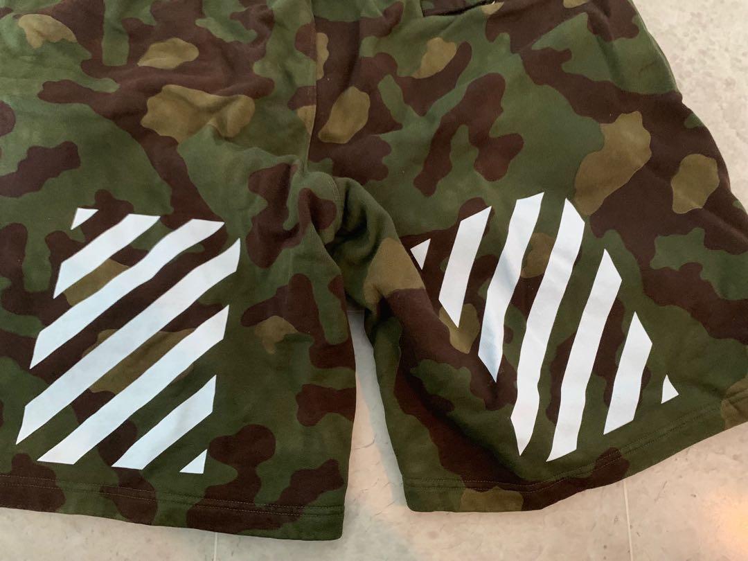 Off white camo shorts supreme bape assc undercover