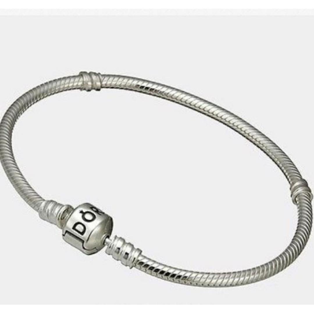 801d6839c PANDORA Charm Bracelet - Sterling Silver (17cm) 590702HV, Women's ...