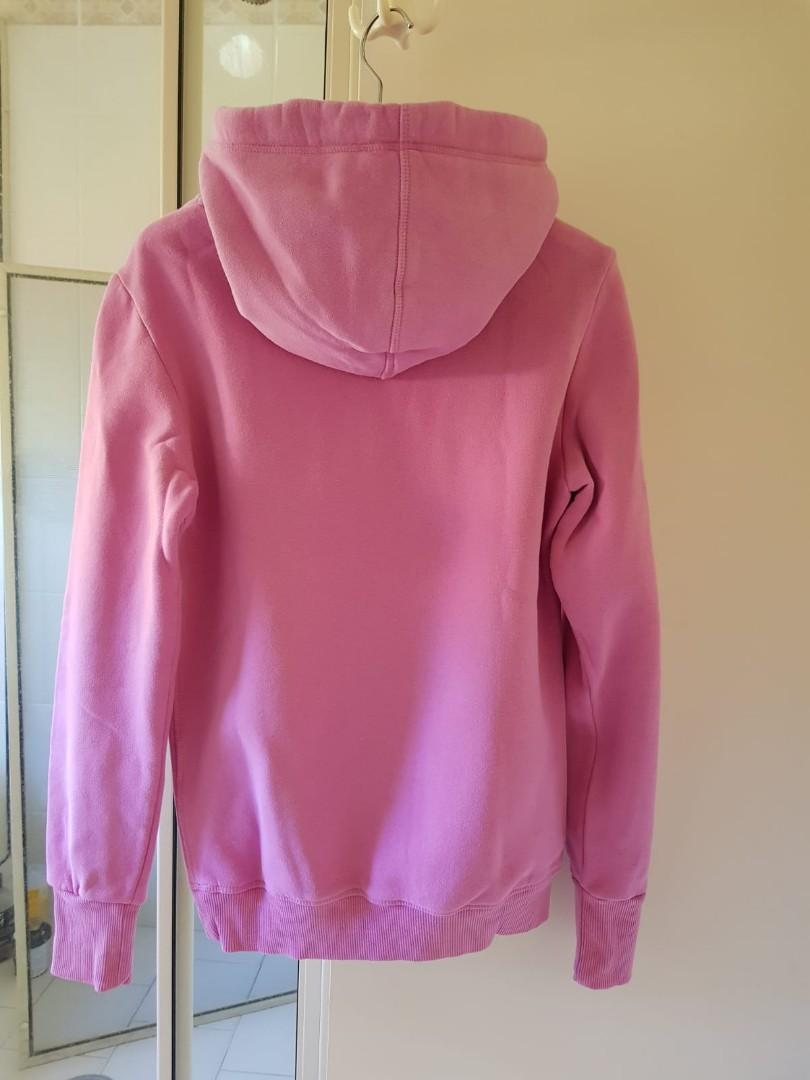 Pink Superdry hoodie size xXS