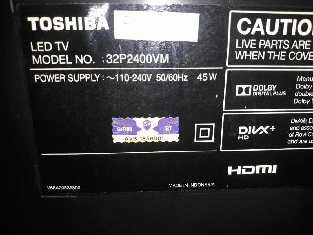 Power board Toshiba led TV