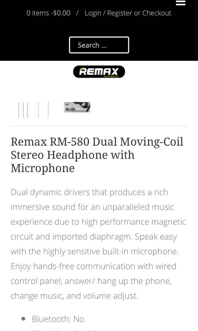 Remax RM580 earphones over the ear