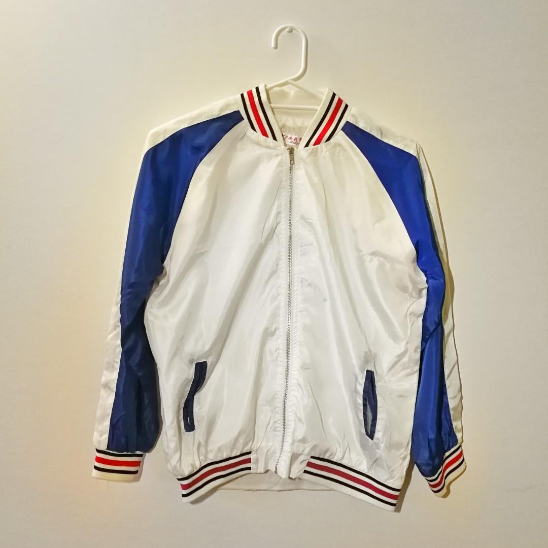 Satin bomber jacket worn once