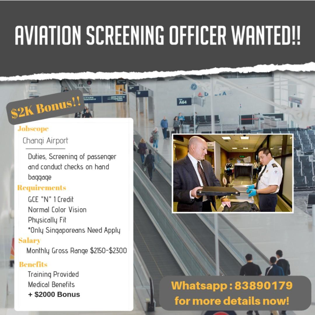 We Are Hiring For Various Security Position Now !!