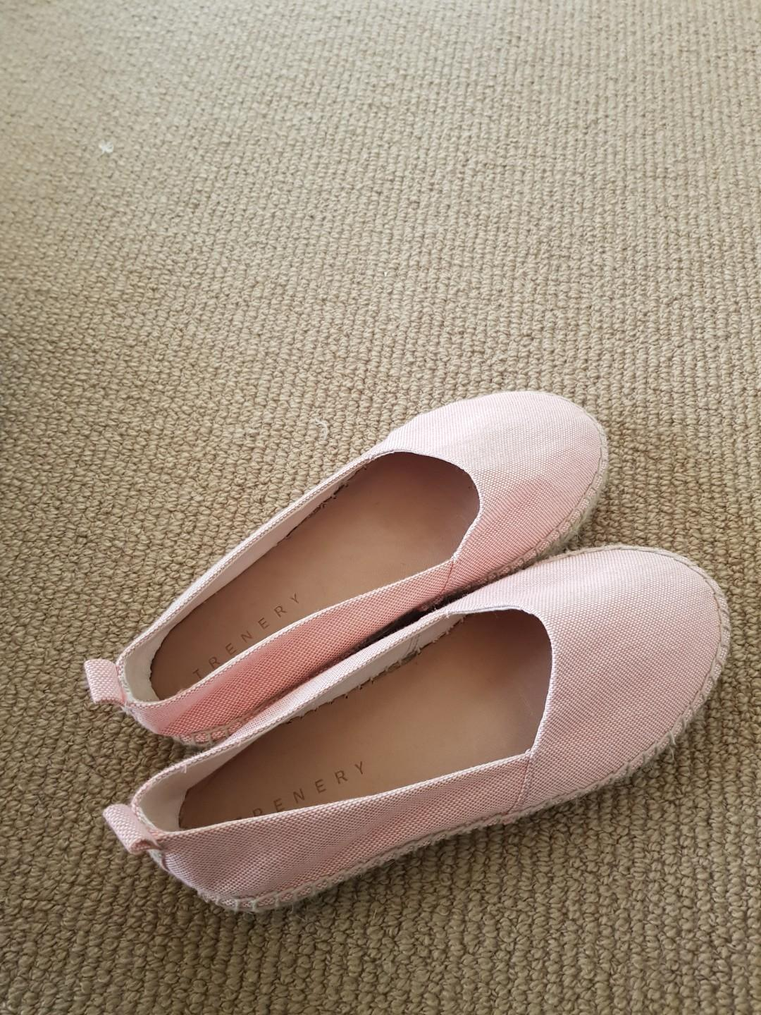 Womens TRENERY Pink Espadrilles Casual Flats Shoes Size 37 (6/6.5)