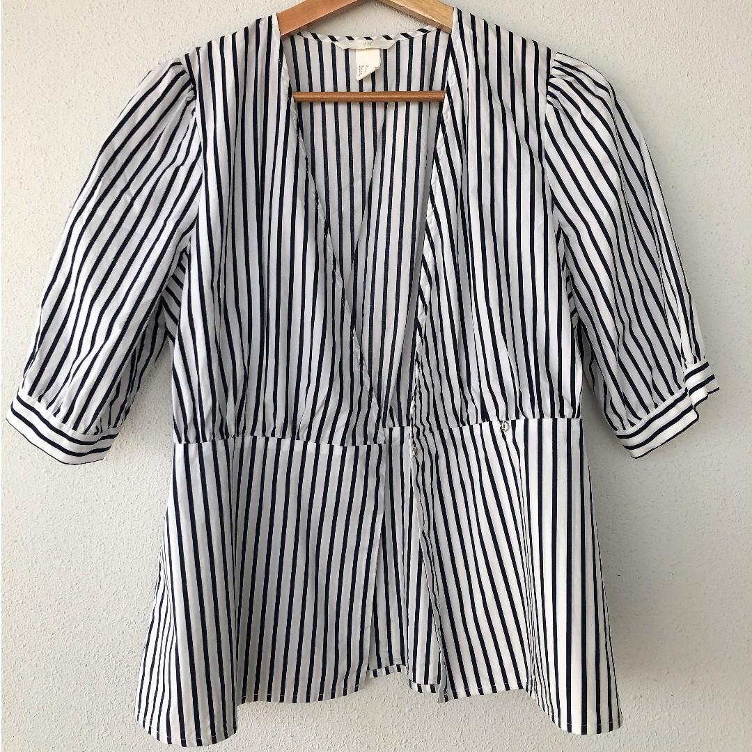 Zara Top / Cover - Blue Striped