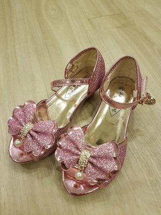 Girl's Shoes: PINK BLING Short Heels Shoes