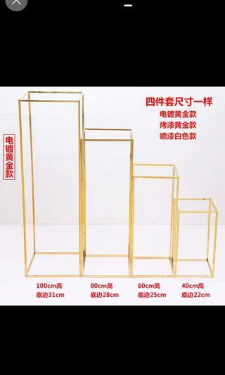 Gold standee 80cm rental