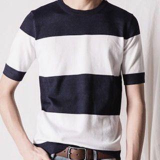 Natural Project Navy Stripe Tee
