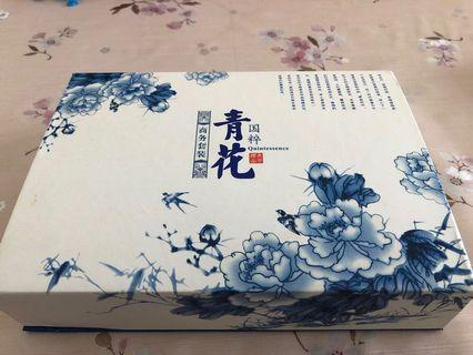 Chinese blue and white porcelain gift set