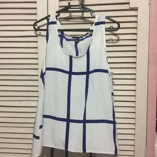 F21 blue and white sando