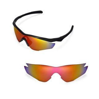 M2 Fire Red Polarized Walleva Replacement Lenses for Oakley M2 Sunglasses