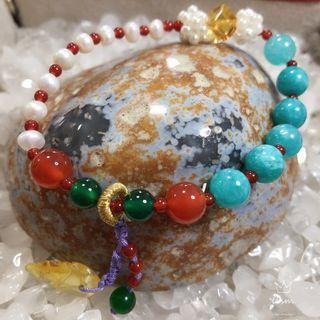 Amazonite with Pearl DIY bracelet