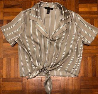 Forever 21 Grey striped shirt