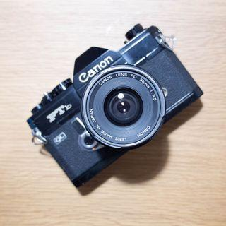 Canon FTb Black Film SLR Camera 35mm F3.5 Lens Vintage