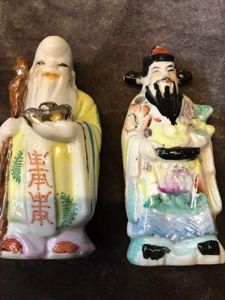 Antique vintage collectibles antiques porcelain collection Jewelry Everything Else Others Tops Buddha statue Porcelain statue Old objects, second-hand objects 瓷器收藏字画书法Vase