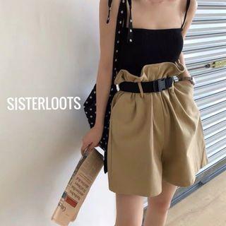 Stephanie Paperbag Shorts Khaki