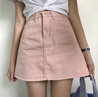 粉紅色A字短裙/半身裙