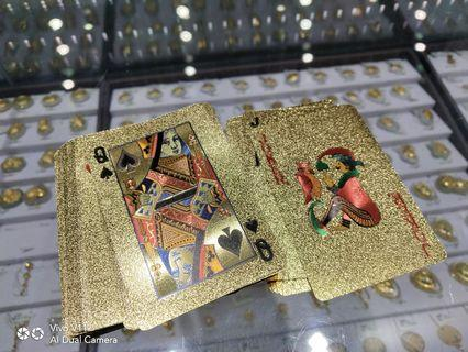 Poker Card Gold Plated
