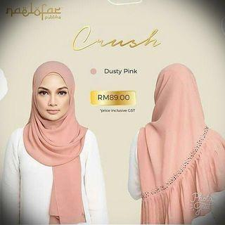 Naelofar Crush Shawl Dusty Pink and/or Almondine