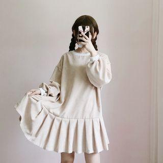 可愛寬鬆中長款長袖連身娃娃裙