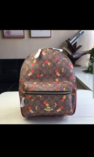 🚚 COACH Cherry Backpack