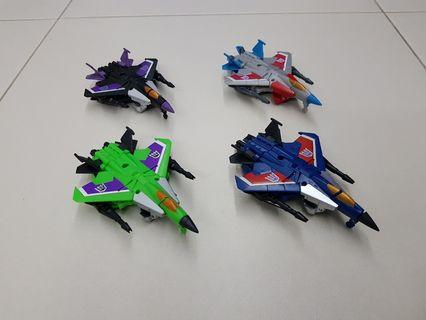 Transformers Generations Starscream, Thundercracker, Skywarp and Acidstorm