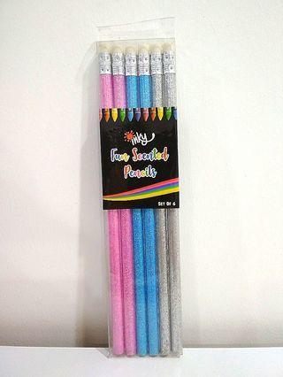6 Fun Scented Glitter Pencils