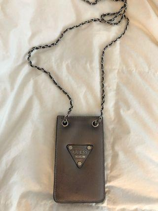 GUESS Leather Cross-Body Phone Holder/Mini Wallet
