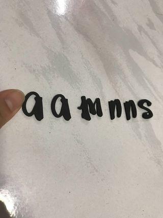 Free foam letters