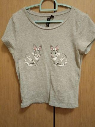 Cotton on bunny on your x x crop top