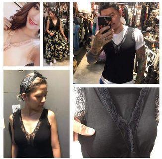 🚚 【全新】轉賣Doby多比服飾🌸蕾絲V領罩杯背心