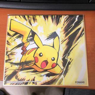 Pokemon 色紙ART - 比卡超 普通版 ( 寵物小精靈 Pikachu ART )