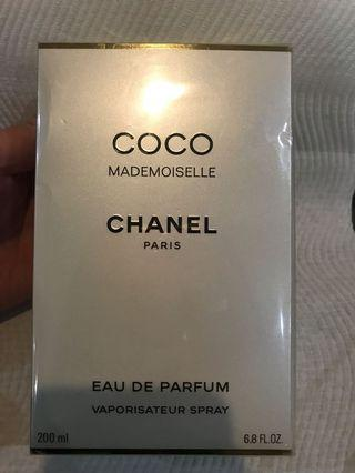 Chanel coco Mademoiselle eau de parfum 200ml new Sealed