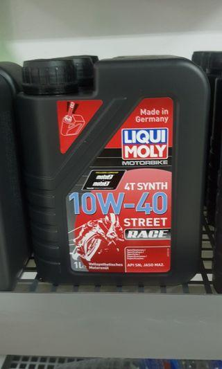 Instock Motorcycle Engine Oil Liquimoly 10w40 Fully-Synthentic