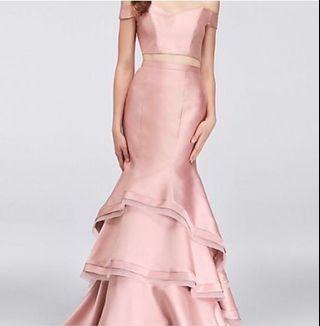 Rose pink 2 piece dress