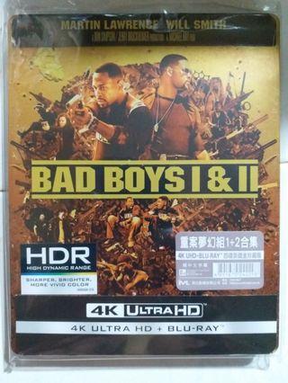 Bluray 重案夢幻組1+2合集 BAD BOYS 鐵盒版藍光碟
