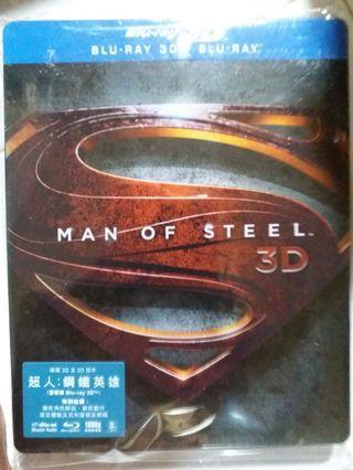 Bluray MAN OF STEEL 超人鋼鐵英雄 鐵盒版藍光碟