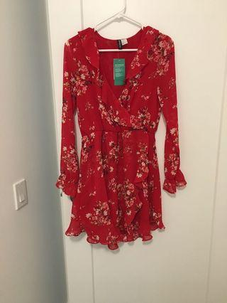 BNWT floral dress h&m size 10 US