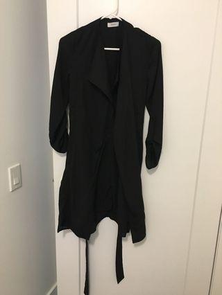 Black duster coat from boohoo never worn