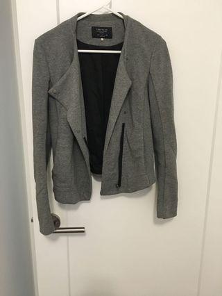 Zara grey jacket blazer medium