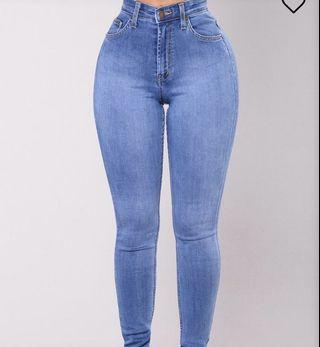 Fashion Nova High Waisted Jeans