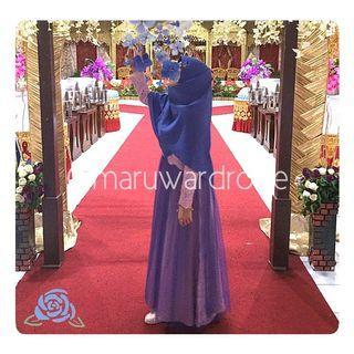 [SEWA] Dress Brukat Kebaya Muslimah Rok Tutu - Gaun Pesta Syar'i Long Dress - bisa untuk Wisuda