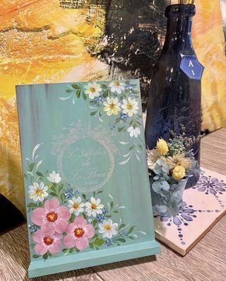 🚚 純手繪 浪漫花園手機架
