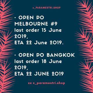Open PO Bangkok & Aussie