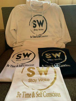 Staywoke t-shirts and pullovers on the low