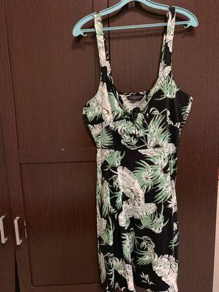 Dorothy Perkins UK18 plus size dress floral leafy sundress