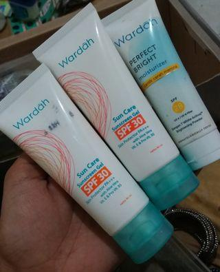 Wardah sun screen dan moisturizer